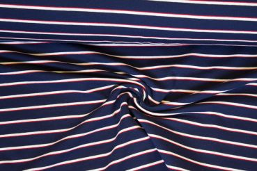 Sweat Ringel rot-weiß-navy
