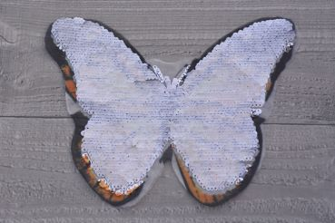 Wendepailletten-Patch Schmetterling orange