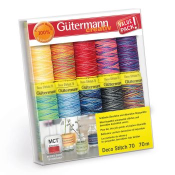 Gütermann Set Deco Stitch Nr. 70 multicolour
