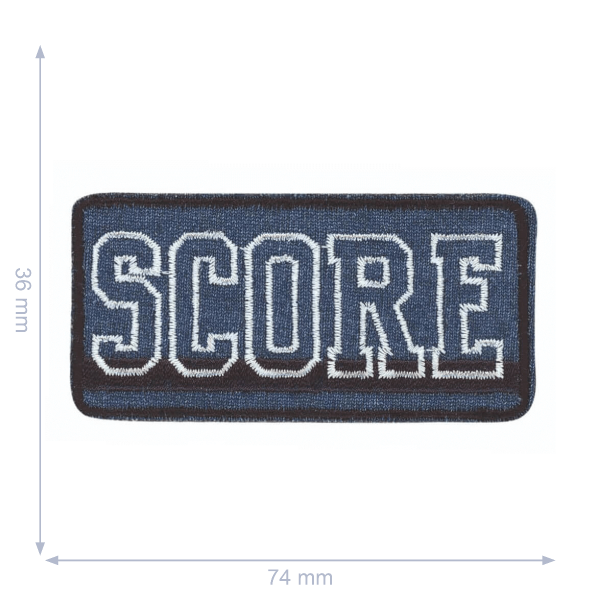 Applikation SCORE blau