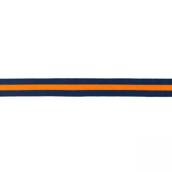 Seitenstreifen 20 mm navy-orange