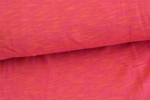 Jersey Two Tone Jersey fuchsia - orange